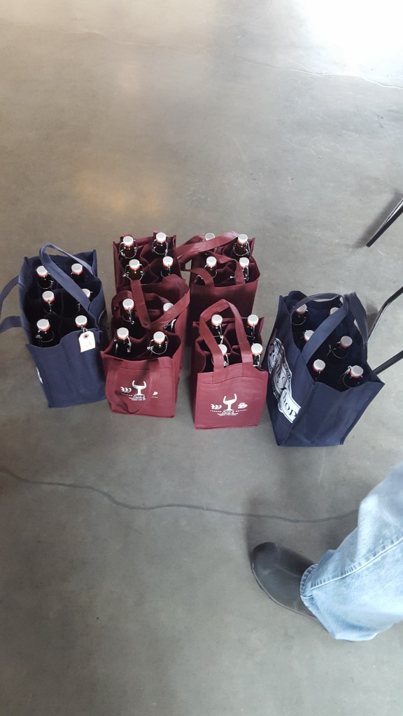 Fun fact Yankee Wine & Spirits wine bags make amazing growler holders.